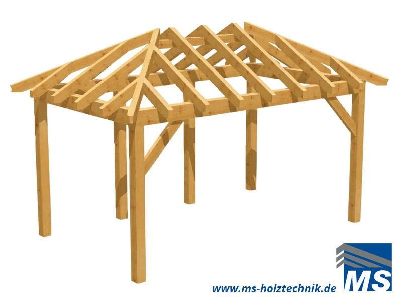pavillonbausatz f r selbstaufbau oder montage durch ms holztechnik ms holztechnik. Black Bedroom Furniture Sets. Home Design Ideas