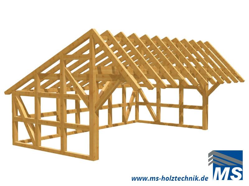 Sehr Remisen Bausatz für Selbstaufbau oder Montage durch MS Holztechnik MB17