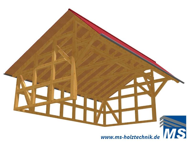 Ms Holztechnik Bausatz B2 Remise 400x760 Cm Abb 03