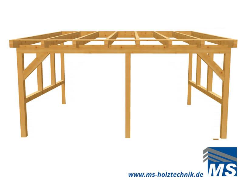 Terrassendach bausatz für selbstaufbau oder montage durch